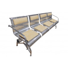 """Секция стульев """"Стайл-М"""" с 2-мя подлокотниками разборная 4-х местная"""