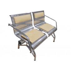 """Секция стульев """"Стайл-М"""" с 2-мя подлокотниками разборная 2-х местная"""