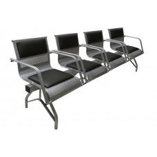 """Секция стульев """"Стайл-М"""" со всеми подлокотниками разборная 4-х местная"""