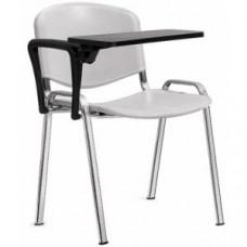 """Стул """"ИЗО"""" с пюпитром, хромированный каркас, сиденье и спинка пластик"""