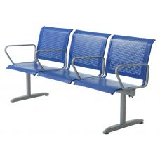 """Секция стульев """"Флайт"""" с подлокотниками"""
