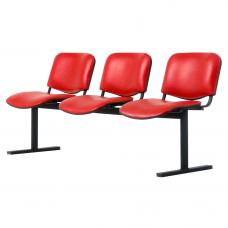 """Секция стульев """"ИЗО"""" на металлической раме"""