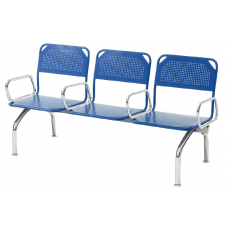 """Секция стульев """"Лайн"""" с подлокотниками"""