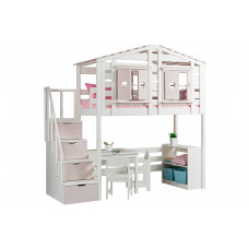 Кровать-домик В-яр Тимберика Кидс №2 с лестницей-комодом