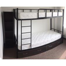 Кровать двухъярусная металлическая с ящиками К.722.60