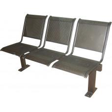"""Секция стульев """"Вега"""" на прямых опорах, без подлокотников, разборная"""