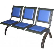 """Секция стульев """"Вега"""" на круглых опорах, без подлокотников, разборная"""