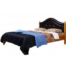 """Кровать двуспальная """"Кая 1"""" спинка мягкая с валиком (с пуговицами)"""