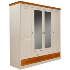"""Шкаф 4-створчатый """"Дания"""" с ящиками"""