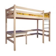 """Кровать-чердак с рабочей зоной """"Классик 2"""""""