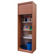 """Шкаф для уборочного инвентаря с жалюзи """"Ринг"""", светлый дуб / венге."""