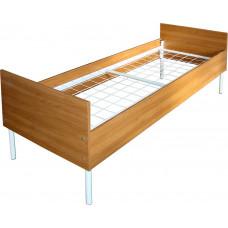 Кровать односпальная металлическая с ЛДСП арт.МК-1.3 сварная сетка