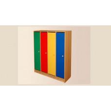 Шкафчик детский для раздевалки на цоколе
