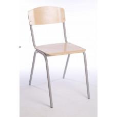 Стул жесткий сиденье и спинка из гнутоклеенной фанеры